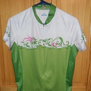 Pearl Izumi Select Green Swirl Cycling Shirt Large
